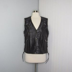 Milwaukee Leather | Embroidered Leather Vest